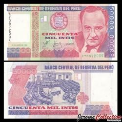 PEROU - Billet de 50000 Intis - 28.06.1988 P142a