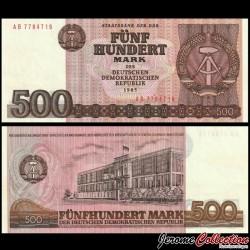 ALLEMAGNE DE L'EST / DDR / RDA - Billet de 500 Mark - Conseil d'État - 1985 P33a
