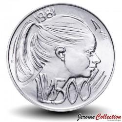 SAINT-MARIN - PIECE de 500 Lires (Argent) - 1981 Km#126