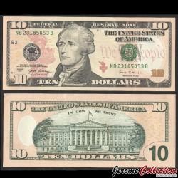 ETATS UNIS / USA - Billet de 10 DOLLARS - 2017 - B(2) New York P544aB