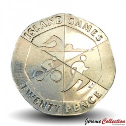 GIBRALTAR - PIECE de 25 Pence - Island Games - Triathlon - 2019 Km#NEW