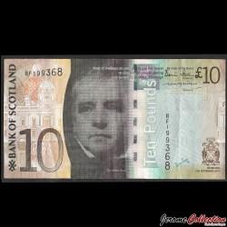 ECOSSE / Bank of Scotland - Billet de 10 Pounds - Sir Walter Scott - 2007 P125a
