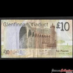 ECOSSE / Bank of Scotland - Billet de 10 Pounds - Sir Walter Scott - 2007