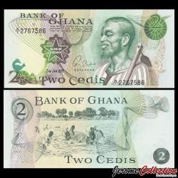 GHANA - Billet de 2 Cedis - 02.01.1977 P14c1