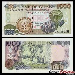 GHANA - Billet de 1000 Cedis - Diamants - 5.12.1996 P32a