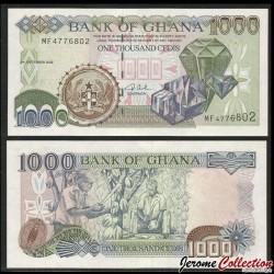 GHANA - Billet de 1000 Cedis - Diamants - 02.09.2002 P32h