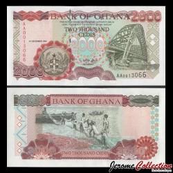 GHANA - Billet de 2000 Cedis - Pont sur la Volta - 5.12.1996 P33a