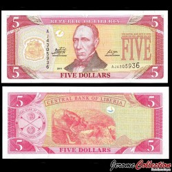 LIBERIA - Billet de 5 DOLLARS - 2011 P26g