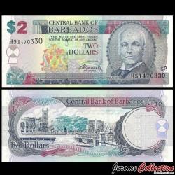 BARBADE - Billet de 2 Dollars - John Redman Bovell - 01.05.2007 P66b
