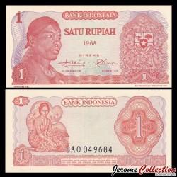 INDONESIE - Billet de 1 Rupiah - Général Sudirman - 1968 P102a