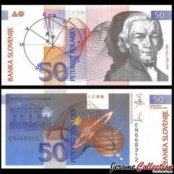 SLOVENIE - Billet de 50 Torlarjev - Jurij Vega - 1992 P13a
