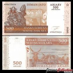 MADAGASCAR - Billet de 500 Ariary - 2500 Francs - 2004 P88a