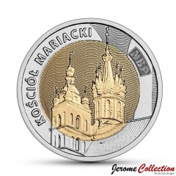 POLOGNE - PIECE de 5 ZLOTE - Basilique Sainte-Marie de Cracovie - 2020 Y#new