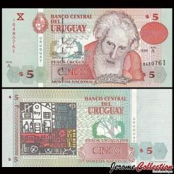URUGUAY - Billet de 5 Pesos Uruguayos - Joaquín Torres García - 1998 P80a