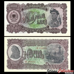 ALBANIE - Billet de 1000 Leke - 1957 P32a