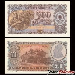 ALBANIE - Billet de 500 Leke - Tracteur SHTZ - 1957 P31a