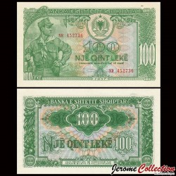 ALBANIE - Billet de 100 Leke - Soldat - 1957 P30a