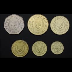 CHYPRE - SET / LOT de 6 PIECES de 1 2 5 10 20 50 Cents - 2004
