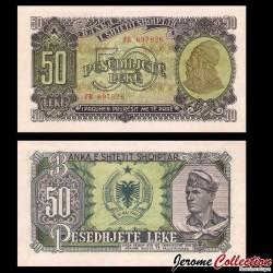 ALBANIE - Billet de 50 Leke - Skanderbeg - 1957 P29a
