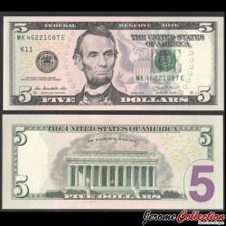 ETATS UNIS / USA - Billet de 5 DOLLARS - 2013 - K(11) Dallas P539aK
