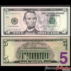 ETATS UNIS / USA - Billet de 5 DOLLARS - 2013 - B(2) New York P539aB