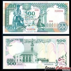 SOMALIE - Billet de 500 Shillings - Pécheurs - 1989 P36a1