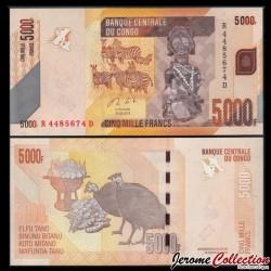 CONGO - BILLET de 5000 Francs - Zébres - 2013 P102b
