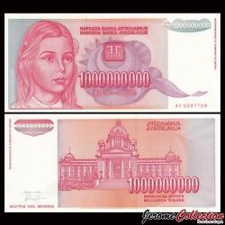 YOUGOSLAVIE - Billet de 1000000000 Dinara (Milliard) - 1993 P126a