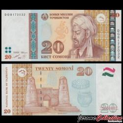 TADJIKISTAN - Billet de 20 Somoni - Avicenne - 1999 P25a