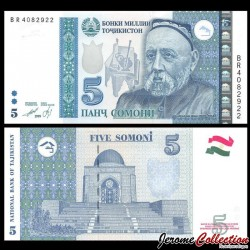 TADJIKISTAN - Billet de 5 Somoni - Avicenne - 1999 P23a