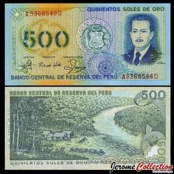 PEROU - Billet de 500 Soles de Oro - 1982