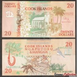 ILES COOK - BILLET de 20 DOLLARS - Église chrétienne, Avarua - 1992 P9a