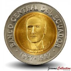 EQUATEUR - PIECE de 500 Sucres - 70 Ans de la Banque centrale - 1997 Km#102