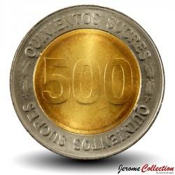 EQUATEUR - PIECE de 500 Sucres - 70 Ans de la Banque centrale - 1997