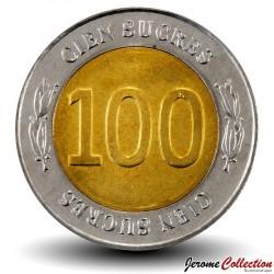 EQUATEUR - PIECE de 100 Sucres - 70 Ans de la Banque centrale - 1997