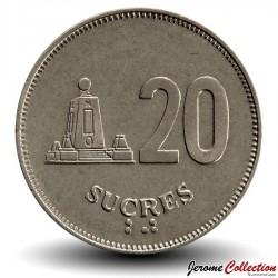 EQUATEUR - PIECE de 20 Sucres - 1991 Km#94