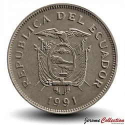EQUATEUR - PIECE de 20 Sucres - 1991