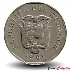 EQUATEUR - PIECE de 10 Sucres - Vénus de Valdivia - 1991