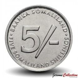 SOMALILAND - PIECE de 5 Shillings - Elephant son petit - 2005