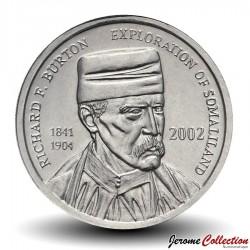 SOMALILAND - PIECE de 5 Shillings - Richard F. Burton - 2002 Km#4