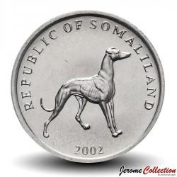 SOMALILAND - PIECE de 20 Shillings - Chien Lévrier - 2002 Km#6