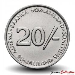 SOMALILAND - PIECE de 20 Shillings - Chien Lévrier - 2002