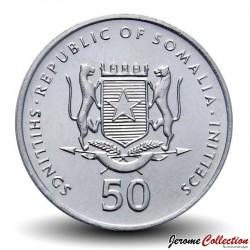 SOMALIE - PIECE de 50 shillings - Singe mandrill - 2002