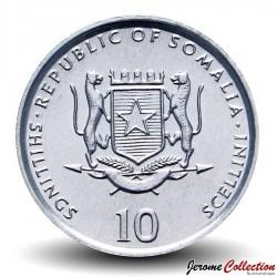 SOMALIE - PIECE de 10 shillings - Dromadaire - FAO - 2002