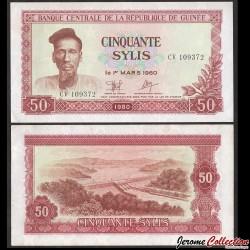 GUINEE - Billet de 50 Sylis - Alpha Yaya Diallo - 1980 P25a