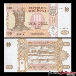 MOLDAVIE - Billet de 100 Lei - Citadelle de Tighina - 2013 P15c