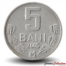 MOLDAVIE - PIECE de 5 Bani - 2005 Km#2