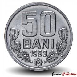 MOLDAVIE - PIECE de 50 Bani - 1993 Km#4