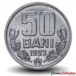 MOLDAVIE - PIECE de 50 Bani - 1993 Km#4