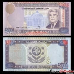 TURKMENISTAN - Billet de 5000 Manat - N°AA0001169 - 1996 P9a